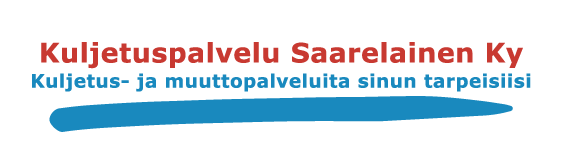 Nopeaa palvelua – Kuljetuspalvelu Saarelainen Ky – muutot ja kuljetukset Logo